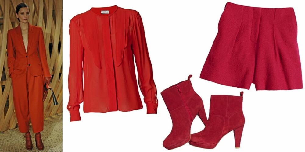 FRA VENSTRE: bluse fra Malene Birger (kr 1699), sko fra HogM (kr 599), shorts fra HogM (kr 399).