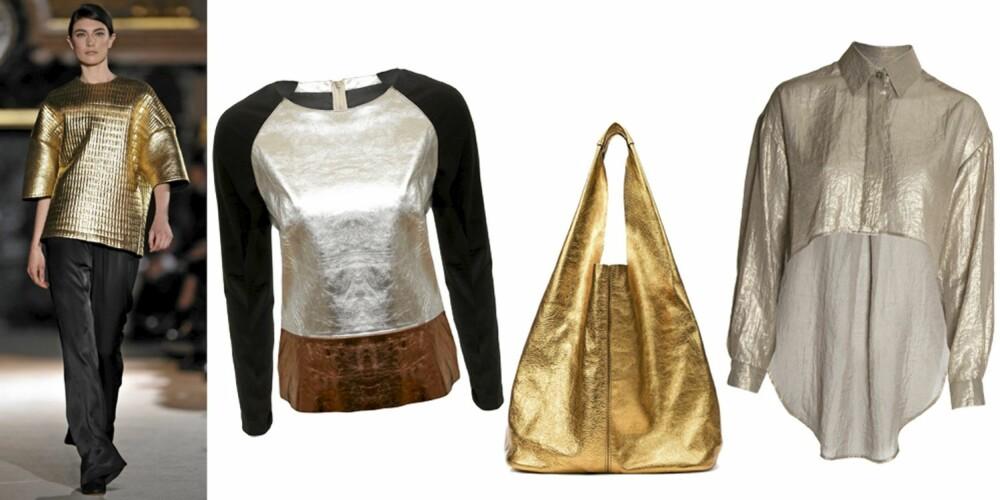 FRA VENSTRE: genser fra Asos (kr 658), veske fra Zara (kr 799), jakke fra Asos (kr 350).