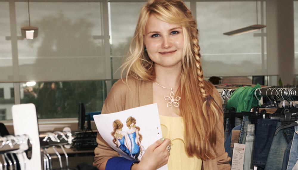 VINNEREN: Jennifer Backlund, 19, fra Helsinki ble vinneren i Gina Tricots konkurranse som gikk ut på å designe høstens hotteste partytopp.