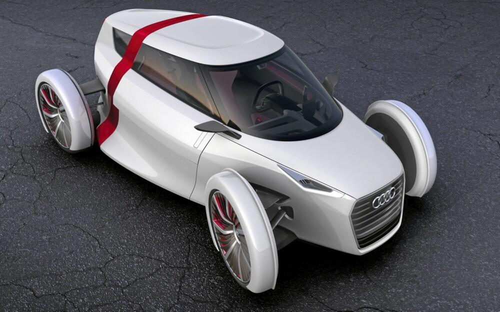 FREMTIDENS BYBIL: Denne elektriske toseteren er det Audi ser for seg som fremtidens bytransport.