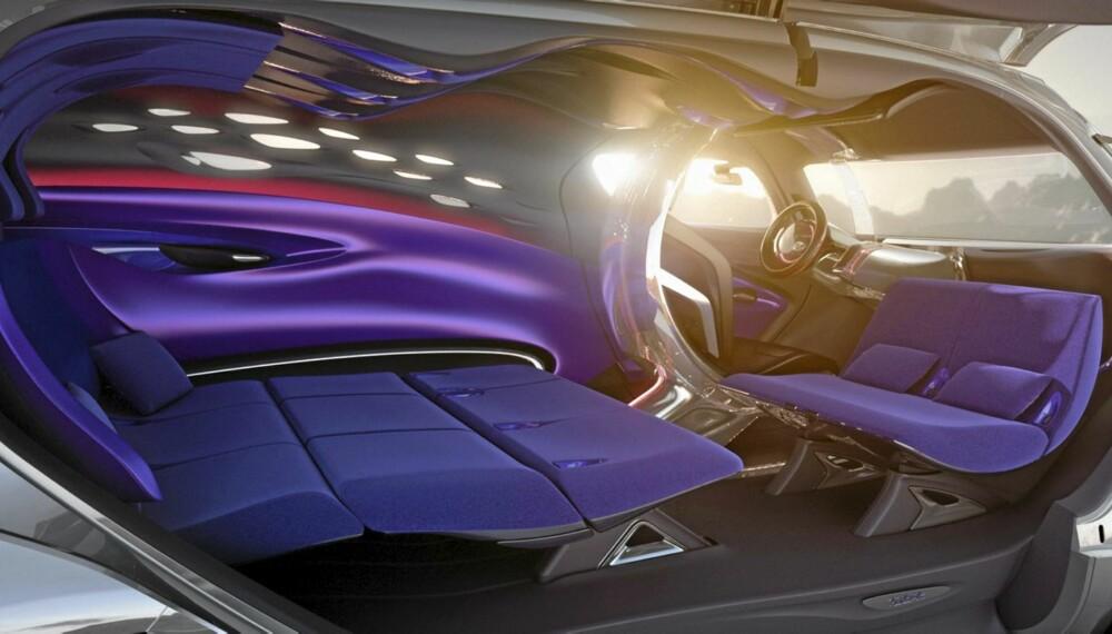 UVANT: Interiøret i Citroëns Tubik-konsept ser mer ut som et romskip enn en bil.