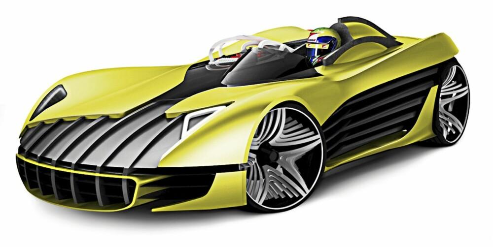 TROFEO, BARCELONA: Designet for å konkurrere i en hel-elektrisk racingklasse. Har en latterlig bart. FOTO: Produsent