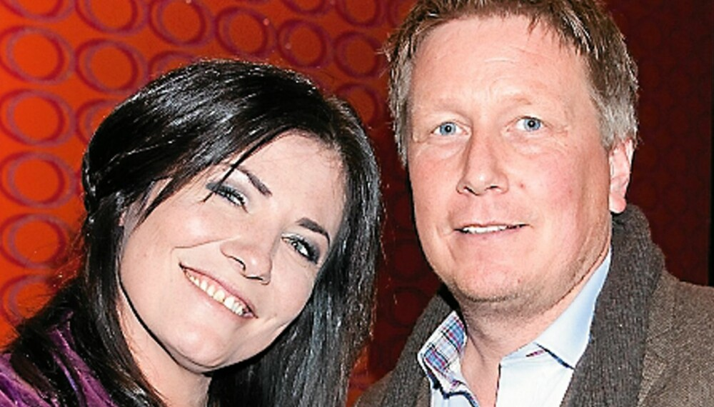 IKKE KJÆRESTER: Marianne Antonsen og Martin Aarestsrup koste seg på premieren til Nattens Dronning. Men kjærester - se det er de ikke!