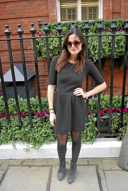 LONDON FASHION WEEK: Charlotte Thorsvedt tok en pause fra flyttinga for å nyte Mulberrys show, i hennes nye ¿hjemby¿.