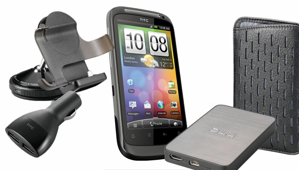 PRAKTISK: Med riktig tilbehør kan mobilen din bli enda mer praktisk. Her er en samling til HTC-telefoner.