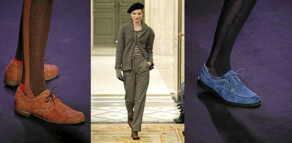 FRA CATWALKEN: Høstens mote fra Anna Sui og Agnes B. La deg inspirere og fyll gjerne på med vakre høstfarger på skoene.