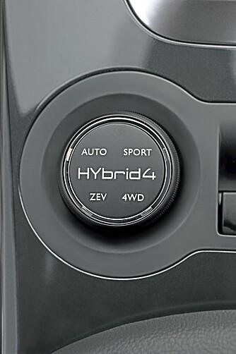 VALG: Bilen kan kjøres i fire forskjellige moduser.