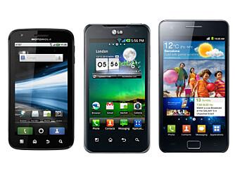 ÅRETS TOPPMODELLER: De mobilene som imponerte oss mest i år kommer trilig til å blekne mot nyhetene som kommer i 2012.