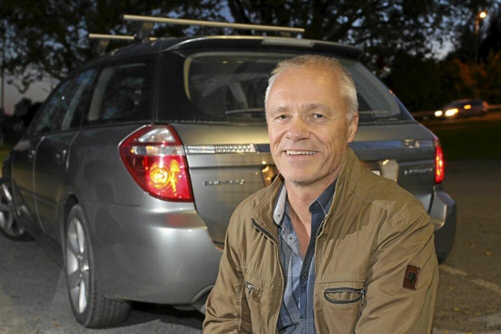 STASJONSVOGN MED 4X4: Også Arne Engen fra Bekkestua hadde fjellhytte og trenger jevnlig 4WD. Men hans valg er stasjonsvognen Subaru Legacy: