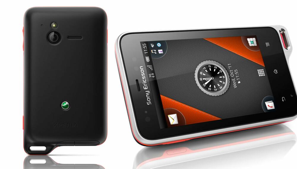 SPORTY: Sony Ericsson markedsfører Xperia Active som en telefon for deg som er sporty og/eller er mye utendørs i allslags vær.