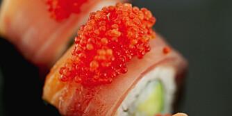 MILD: Sushi og Farris sine milde smaker er som skapt for hverandre.