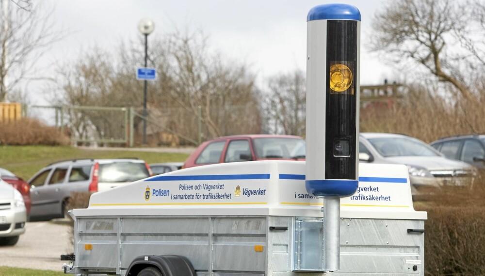 MOBIL: Sverige har benyttet mobile fartskameraer som dette i flere år. Foto: Trafikverket.