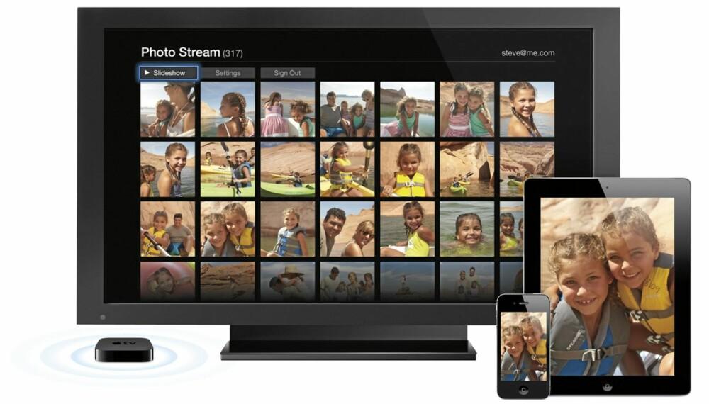 STRØM: Med nyeste programvare på iPad 2/iPhone 4S og på din Apple TV kan du streame skjermbildet på mobilen/iPad direkte til TV-en.