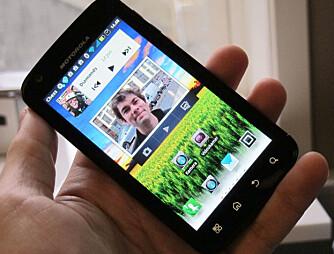 MOTOBLUR: Motorola har lagt sitt eget, svært omfattende menysystem på toppen av Android.