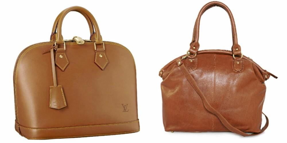 HÅNDHOLDT: Louis Vuitton Lockit Nomade (kr 19.000), veske fra Nelly.com (kr 1195).