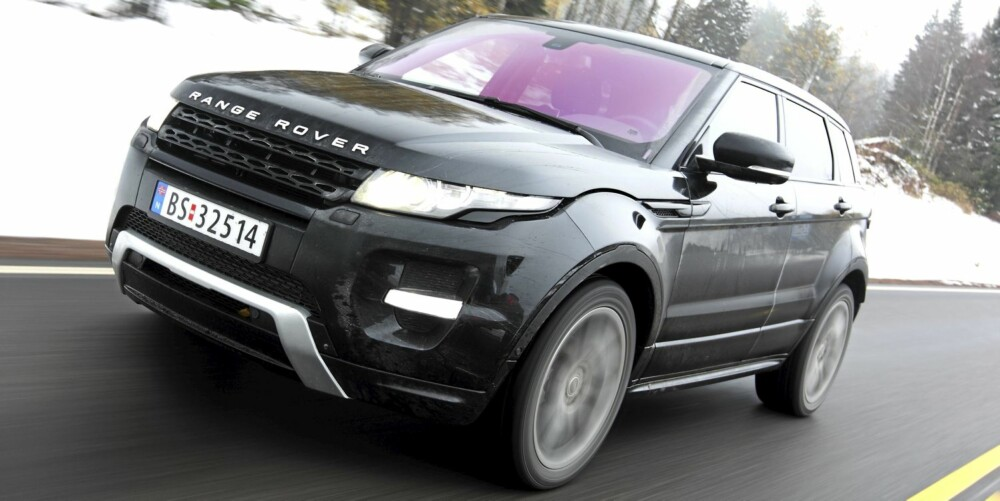 KANDIDAT: Range Rover Evoque vekker oppmerksomhet, og over 160 nordmenn bestilte bilen før prisene var klare.