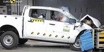 BEST: Ingen pickup-er er sikrere enn Ford Ranger, ifølge EuroNCAP.