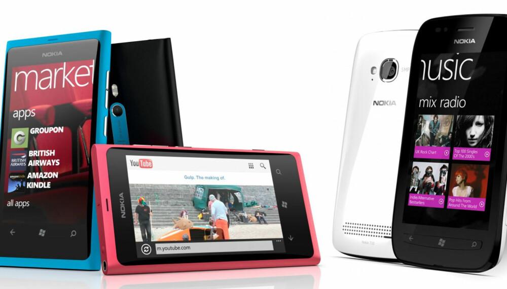 WINDOWS: Nokias nye Windows-telefoner, Lumia 800 og Lumia 710, ble lansert i London onsdag.