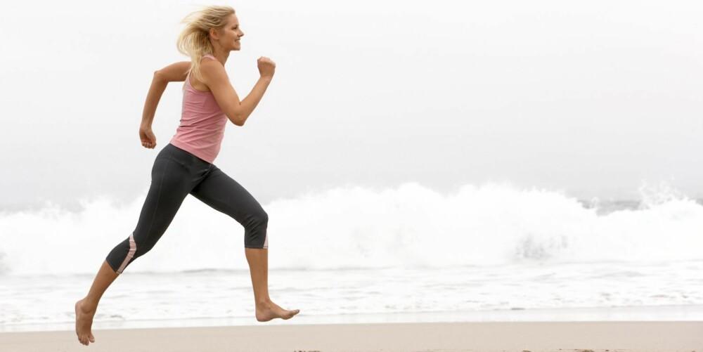 KONDISJON: Løping og annen kondisjonstrening er viktig for å spikre bikinikroppen.
