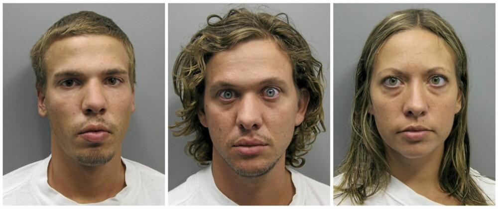 Ryan, Dylan og Lee Grace Dougherty etter pågripelsen i Colorado. Nå venter rettssaker i tre forskjellige stater.