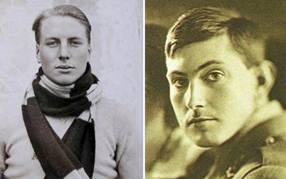 George Mallory (til h.) og Sandy Irvine ble overrasket av snøbyger og forsvant på Mount Everest.