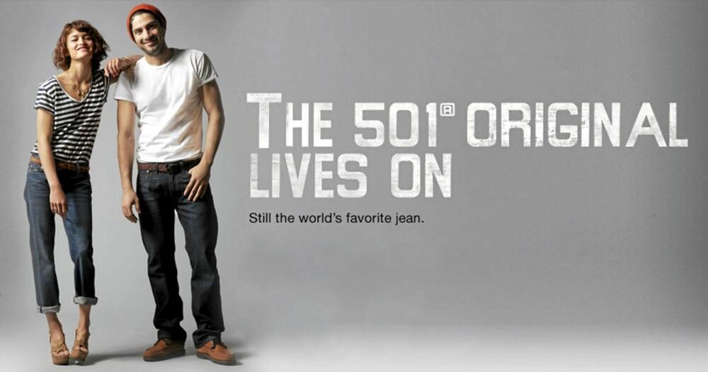 501: Still the world's favourite jean.