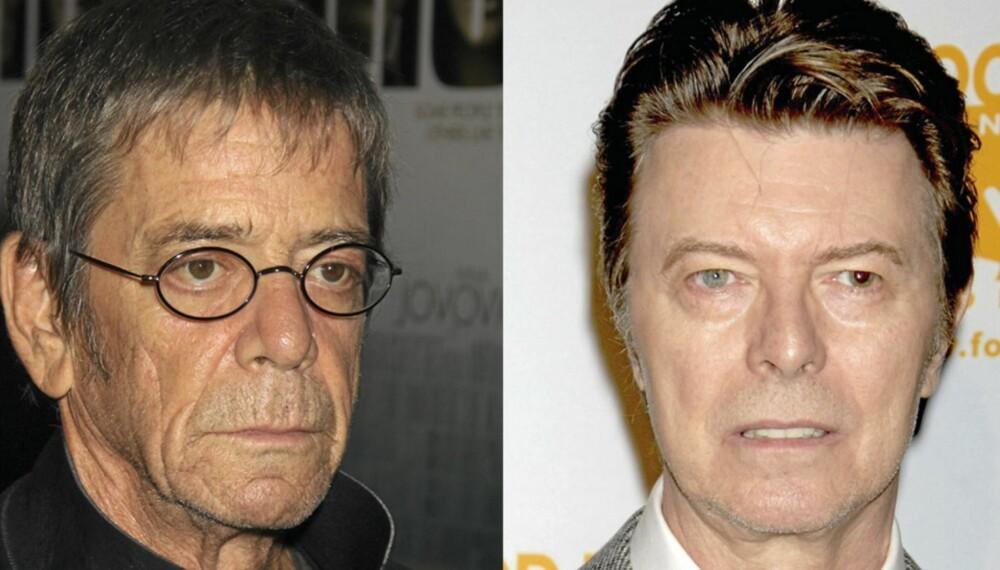 De gamle rockeheltene Lou Reed og David Bowie går i studio på nyåret - 40 år etter at de sto i studio sammen for første gang.