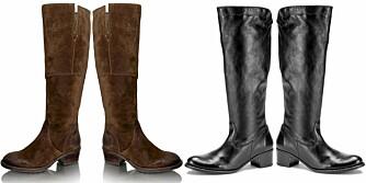 HØSTSKO: Lekre, høye støvletter fra henholdsvis Vagabond (kr 1399) og DNA (kr 1699).