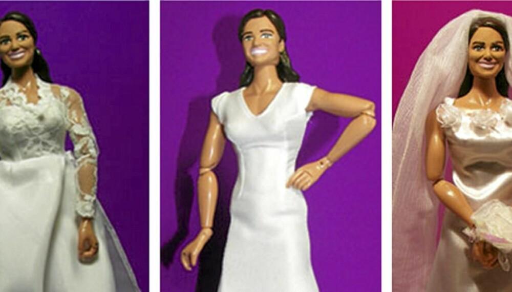 Pippa Middleton - flankert av sin søster i to kjolevarianter. Sjekk skuldrene!