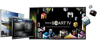 SMART: Samsung Smart TV er full av underholdning og lure løsninger.