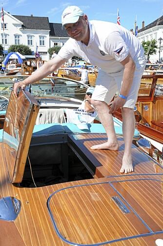 SEXY: - Dette er den ultimate båten med en linjeføring som avsluttes med det mest sexy akterparti som du finner i Oslofjorden, sier eier Torbjørn Skjøren.