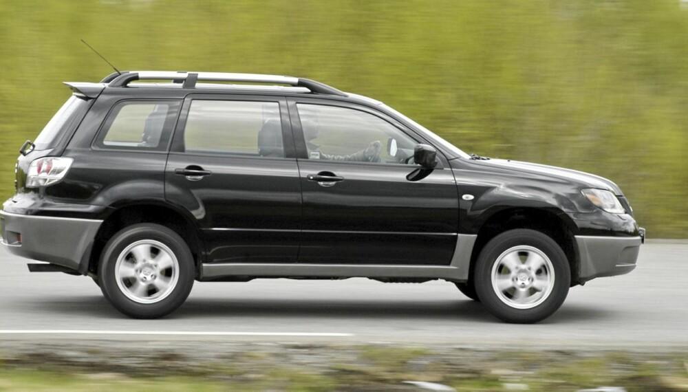 PERSONBILAKTIG: I 2003 ble Mitsubishi Outlander regnet blant de SUV-modellene som var mest personbilaktige å kjøre.