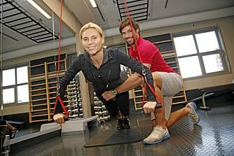 HARDKJØR: Anna Anka trener minst fire ganger i uken. Her sammen med sin personlige trener Tommy Lande.