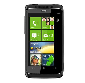 TIDLIG: HTC 7 Trophy er en av de første Windows-telefonene som kom i norske butikker.