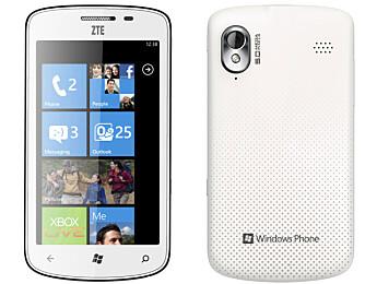 LAVPRIS: ZTE Tania ligger an til å bli den billigste Windows-mobilen du får kjøpt i år.