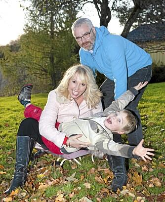 FAMILIEN: Lise er lykkelig med ektemannen Espen og sønnen Leo (5). Familien bor på Leirsund i Akershus.