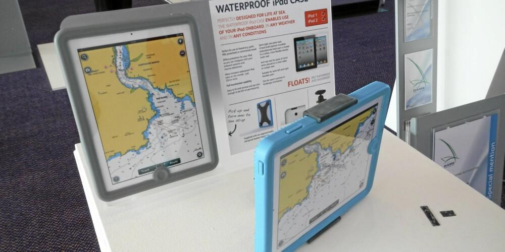 TETT: Denne vanntette saken fra Scanstrut gjør det enkelt å ta med iPaden til sjøs. Komplett vanntett og tåler slag og støt.