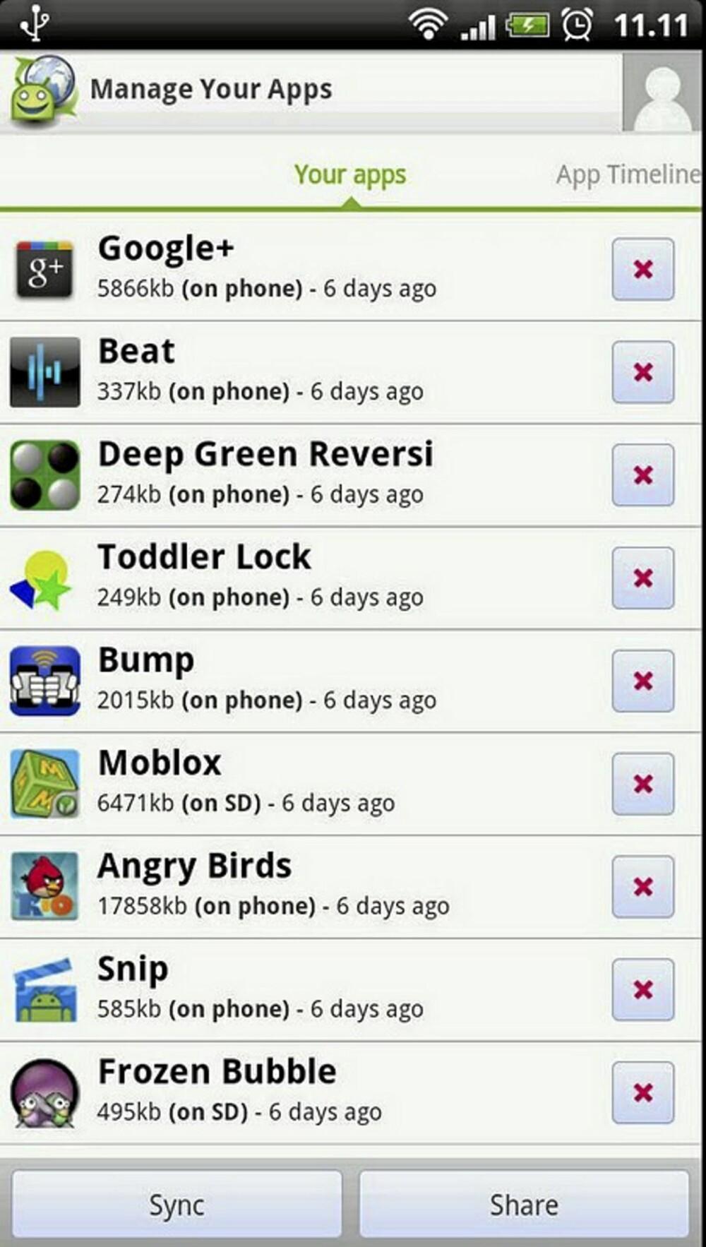 OVERSIKT: Med AppBrain på mobilen din får du raskt oversikt over hvilke App-er du allerede har installert.