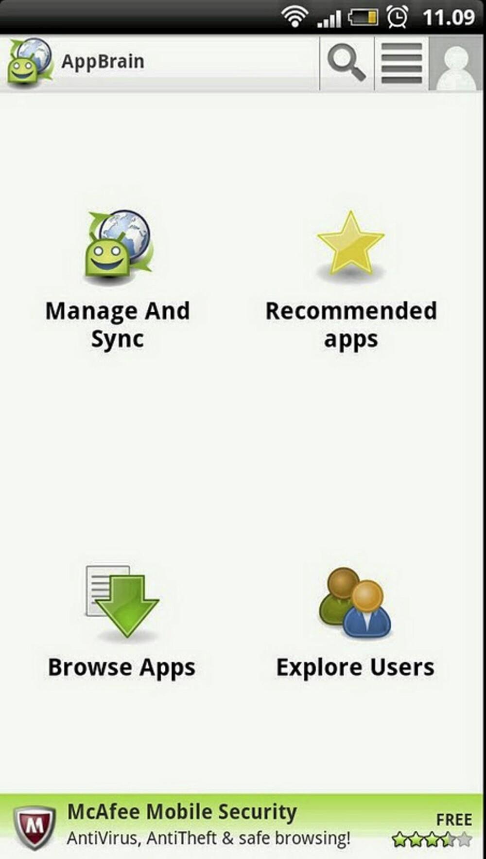 APP FOR APPS: Med AppBrain på mobilen din har du full kontroll over alle andre appene på mobilen din.