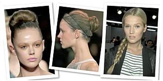 FINE FRISYRER: Her får du oppskriftene på tre fjonge frisyrer.