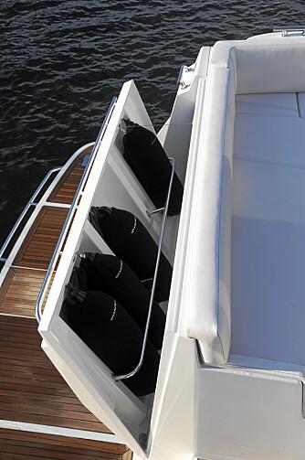 MODERNE: Formspråket i innredningen er ¿ som båten ellers - moderne og med gjennomtenkte løsninger.
