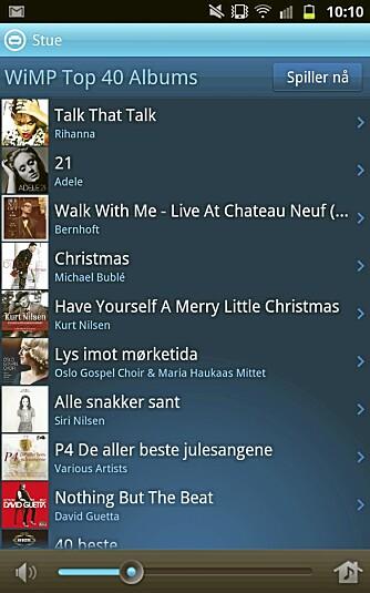 ANDROID: Den nye Sonos-appen for Android virker stabil og gir tilgang til alt du har på Wimp av spillelister og redaksjonelle anbefalinger.