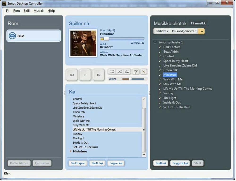 SPILLELISTER: Du kan også lage egne Sonos-spillelister for musikk fra Wimp i tillegg til Wimp-spillelistene dine.