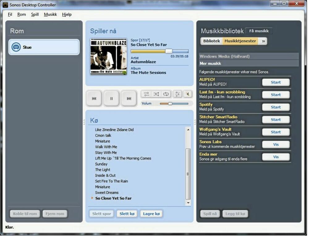 BETA: Wimp skjuler seg bak Sonos Lab, som er en ny tjeneste fra Sonos for å betateste nye musikktjenester.