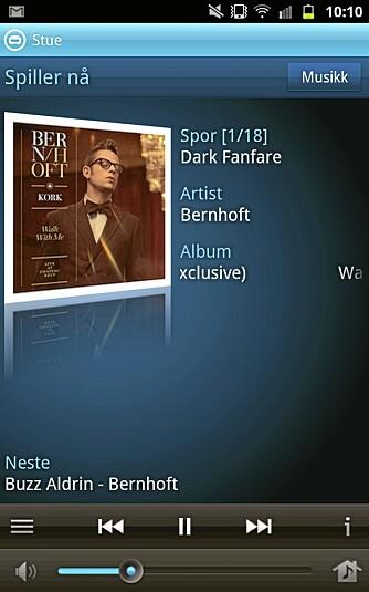 MOBIL: Du kan styre Wimp på Sonos på en Android-mobil, en iPhone eller på en iPod.