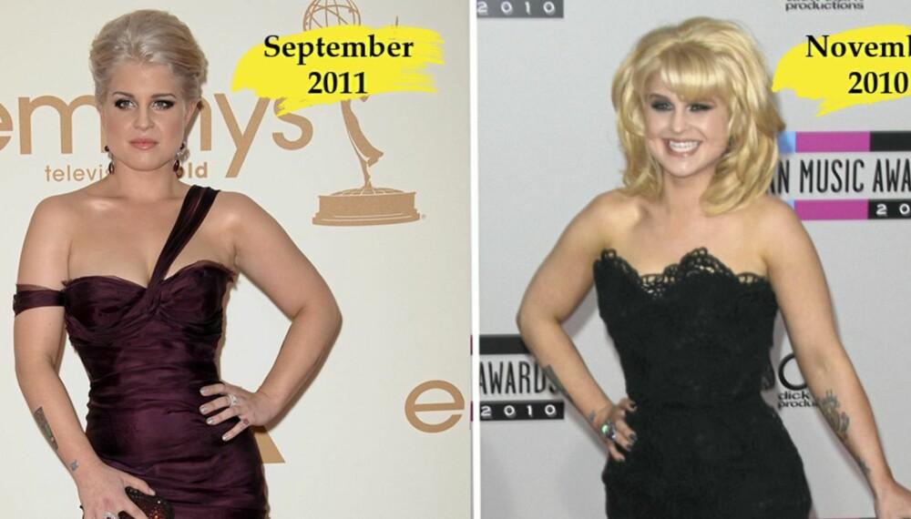 SAME, SAME, BUT DIFFERENT: Kelly dukket opp på flere arrangementer i 2010 der hun så atskillig tynnere ut enn i dag. - Jeg har samme størrelse som i fjor, sier hun.