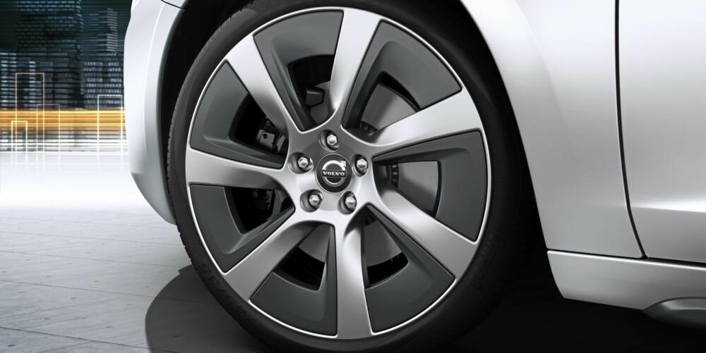 NORSK: Hareide Design har designet felgene på Volvo V60 plug-in hybrid.