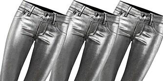 JEANSTRENDER: Metalliske stoffer er veldig trendy i vinter, også når det gjelder jeans.