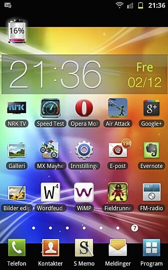 FLEKSIBELT: Android er et fleksibelt operativsystem. Galaxy Note byr i tillegg på Samsungs egne tilpasninger.