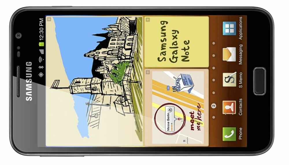 STØRST: Med sine 5,3 tommer er Samsung Galaxy Note den største mobilen på markedet.
